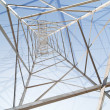 Abstract background with inside of pylon — 图库照片