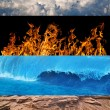 Four elements strips collection - Stock Photo
