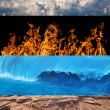 Four elements strips collection — Stock Photo