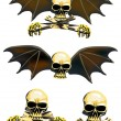 Royalty-Free Stock Vector Image: Four skulls isolated on white