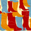 Abstract boot silhouettes background - Stock Vector