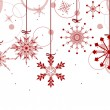 Christmas background with red snowflakes — Stock Vector #24183133