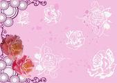 Fundo rosa com flores rosas — Vetorial Stock