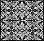 белый квадрат абстрактный симметричный узор — Cтоковый вектор