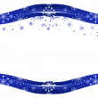 Blue snow decorated frame — Stock vektor