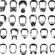Set of thirty two men beards — Stock Vector