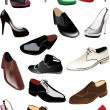 Man and woman shoes collection - 图库矢量图片