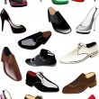 Man and woman shoes collection - Stockvektor