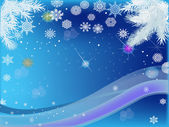 Blue background with light snowflakes — Vetorial Stock
