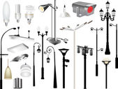 Set of lighting equipment — Stock Vector