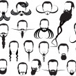Twenty four men beards collection — Stock Vector