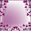 Frame from purple hearts — Stock Vector