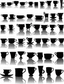 Forty seven cups collection — Stock Vector