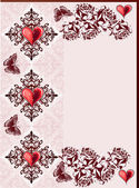 Hearts and butterflies abstract design — Stock vektor