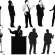 Speaker silhouettes collection — Image vectorielle