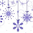 Background with blue snowflakes and circles — Stockvectorbeeld
