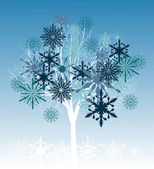 Tree from snowflakes — Stock Vector