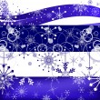 White and blue snowflakes bands — Imagen vectorial