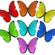Rainbow color butterflies illustration — Stock Photo #34869191