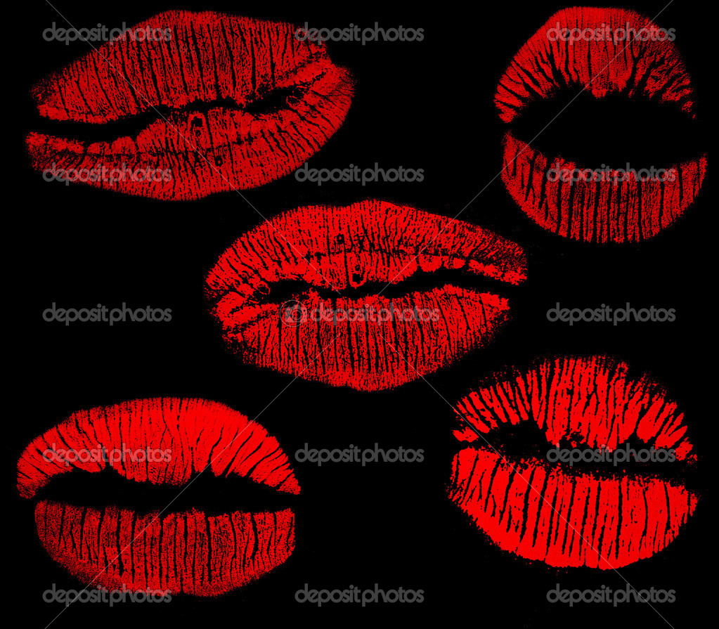 Lip print black background