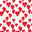 Seamless background from heart shape balloons — Stock Photo
