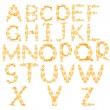 Orange flame alphabet isolated on white — Stock Photo
