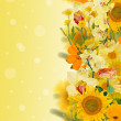 Strip with yellow flowers — Stockfoto