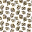 Seamless background with human skulls — Stock Photo