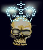 Dark skull in bright crown — Cтоковый вектор