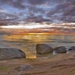 Stones in sunset sea — Stock Photo #6415332