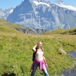Stock Photo: Trekking in Jungfrau region, Switzerland