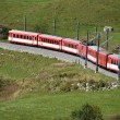 Alpine express at Furka pass, Switzerland — Stock Photo