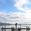 Girl on the jetty — Stock Photo