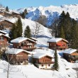 Stock Photo: Holiday cottages in Braunwald, Switzerland