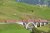 SWITZERLAND - SEP 16: Glacier Express of Matterhorn-Gotthard rai — Stock Photo