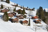 Holiday cottages in Braunwald, Switzerland — Stock Photo