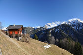 Spring in Braunwald, famous Swiss skiing resort — Stock Photo