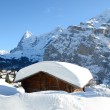 Murren, famous Swiss skiing resort - Stock Photo
