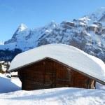 Muerren, famous Swiss skiing resort — Stock Photo