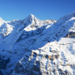 Eiger, Moench and Jungfrau, famous Swiss mountain peaks — Stock Photo