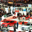 GENEVA - MARCH 12: Various makes and models of cars are on displ - ストック写真