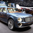 GENEVA - MARCH 12: Bentley EXP-9 world's only W12 SUV on display — Stock Photo