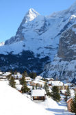Muerren, famous Swiss skiing resort — Stock Photo