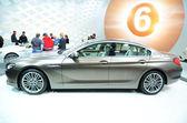 GENEVA - MARCH 12: BMW 6er Gran Coupe on display at 82nd Geneva — Foto Stock