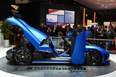 GENEVA - MARCH 12: Koenigsegg Agera R on display at 82nd Geneva — Foto Stock