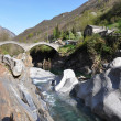 Stock Photo: Ponte dei salti bridge in Lavertezzo, Switzerland