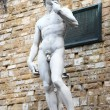 David by Michelangelo, replica in Florence plaza — Stock Photo