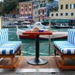 Stock Photo: Street cafe in Portofino, Italy