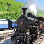 Old steam train, Switzerland — Stock Photo