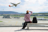 Luchthaven scène — Stockfoto